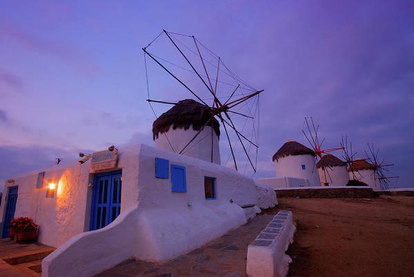 Wall Art - Photograph - Windmills And Mykonos by Jordan Lye