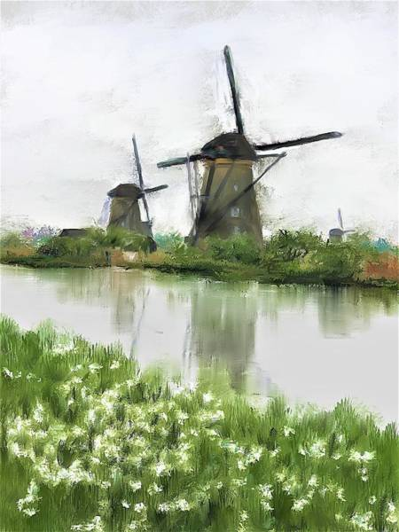 Painting - Windmills by Diane Chandler