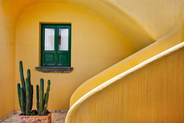 Photograph - Window And Yellow Wall, Hotel Signum by Sabine Lubenow / Look-foto