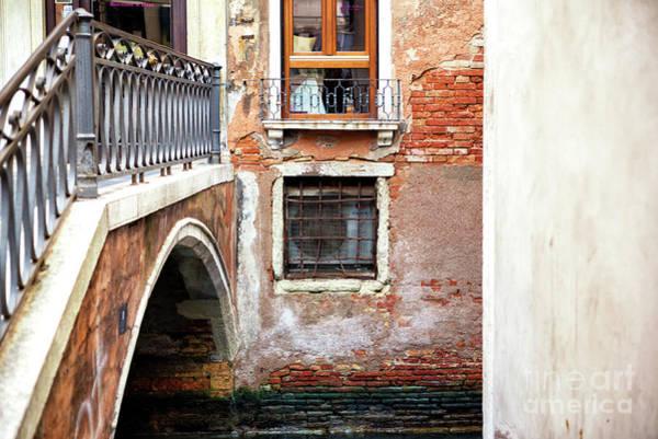 Photograph - Window By The Bridge In Venice by John Rizzuto