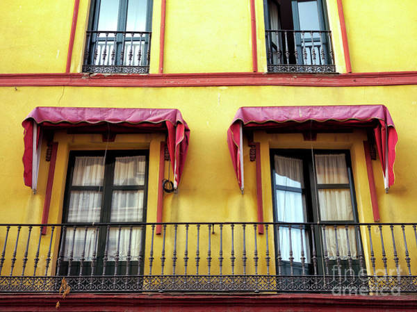 Photograph - Window Couple In Seville by John Rizzuto