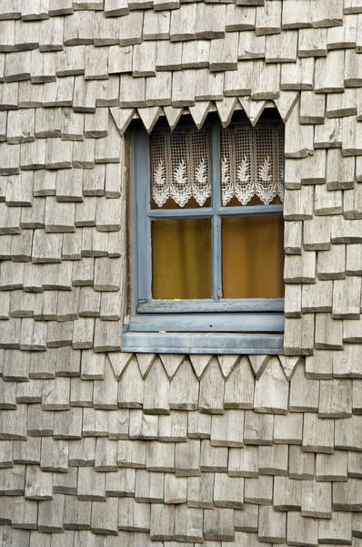 Covering Photograph - Window In A Wood Covered Wall, Mont St by Vladimir Weiss