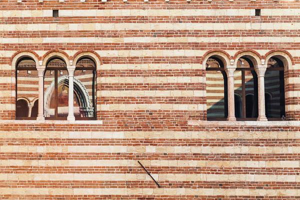 Tuff Wall Art - Photograph - Window Of Palazzo Della Ragione, Verona by Deimagine