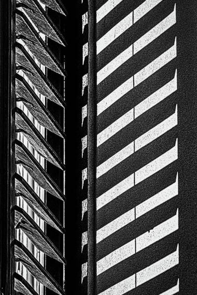 Photograph - Window Shutter Shadow - Romania by Stuart Litoff