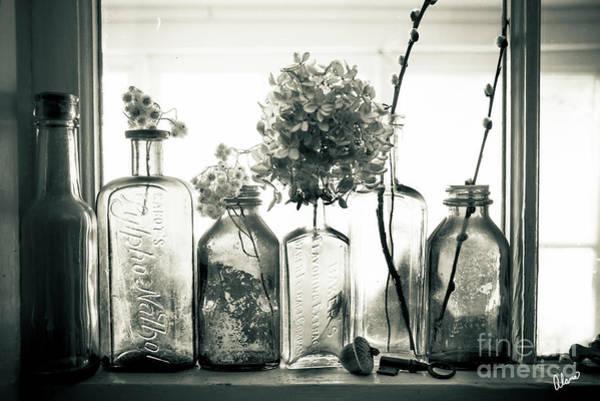 Photograph - Windowsill Bottles by Alana Ranney