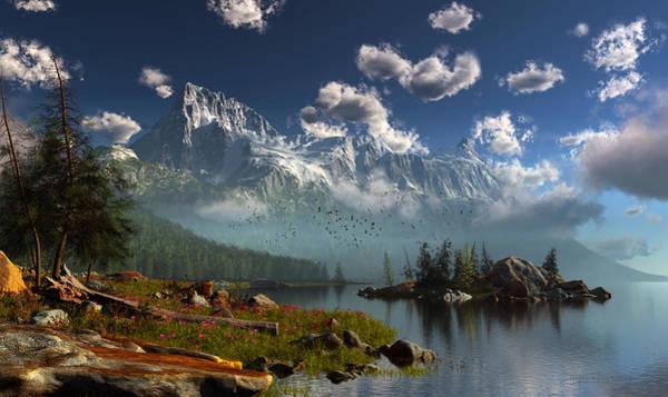 Digital Art - Window Through The Mist by Dieter Carlton