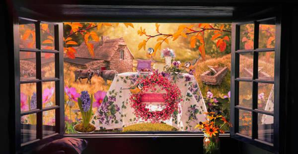 Photograph - Window To The Sunset Garden  by Debra and Dave Vanderlaan