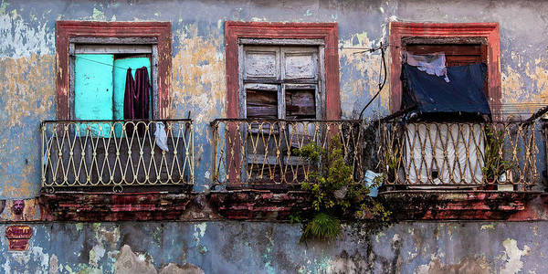 Photograph - Windows And Ruins At Calle Bernaza Havana Cuba by Charles Harden