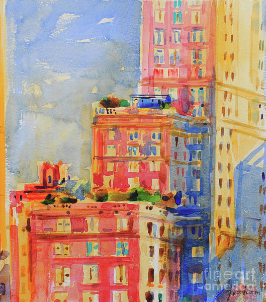 Wall Art - Painting - Windows In The Upper East Side by Peter Graham