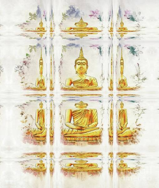 Esoteric Painting - Windows On The Buddha by Raphael Terra