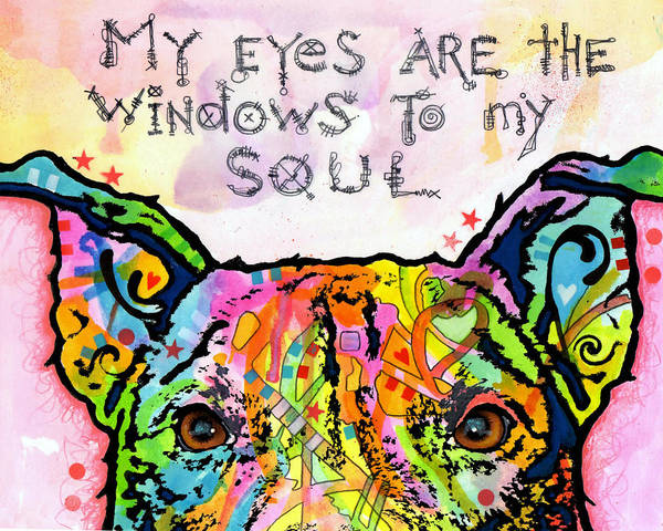 Wall Art - Painting - Windows To My Soul by Dean Russo Art