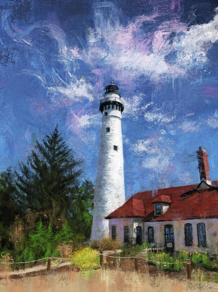 Wall Art - Digital Art - Windpoint Lighthouse by Garth Glazier