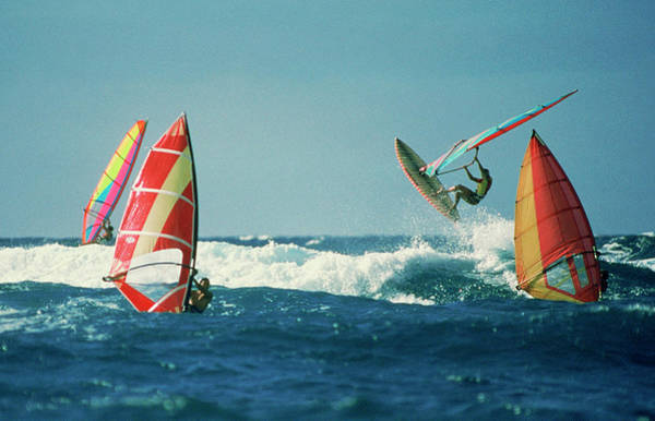 Windsurfing Photograph - Windsurfer Getting Big Air by Great Art Productions