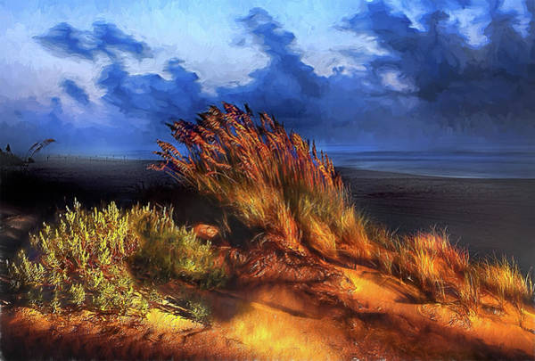 Pea Digital Art - Windswept Beach Ap by Dan Carmichael