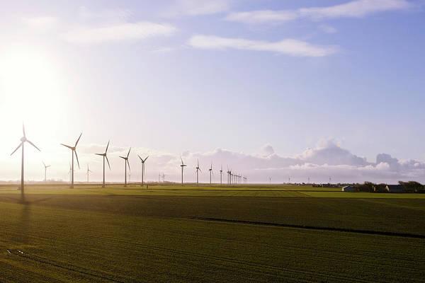 Wall Art - Photograph - Windturbines At German Coast by Axel Schmies