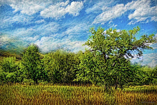 Digital Art - Windy Field Afternoon by Joel Bruce Wallach