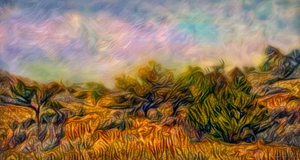 Digital Art - Windy Golden Meadow by Joel Bruce Wallach