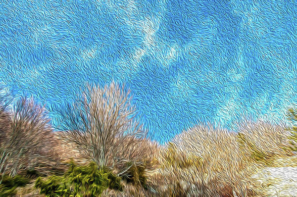 Wall Art - Digital Art - Windy Hillside Impression by Dimitris Sivyllis