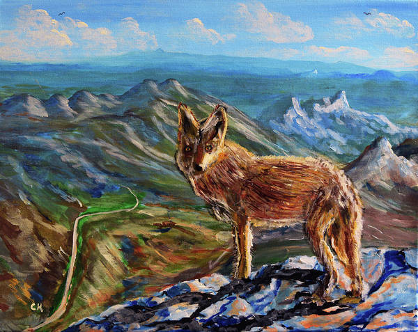 Painting - Windy Point Coyote by Chance Kafka