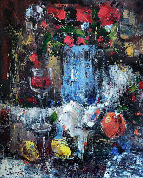 Painting - Wine And Fruits by Stefano Popovski
