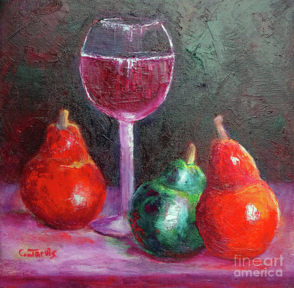 Painting - Wine And Pears by Carolyn Jarvis