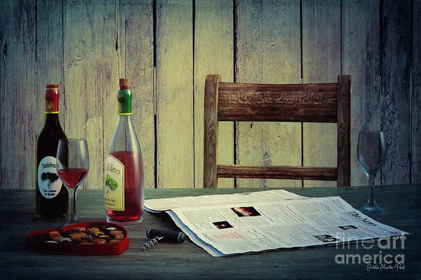 Digital Art - Wine And Sweets by Jutta Maria Pusl