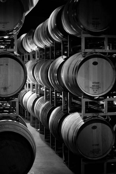 Warehouse Photograph - Wine Barrels by Matthew Borkoski Photography