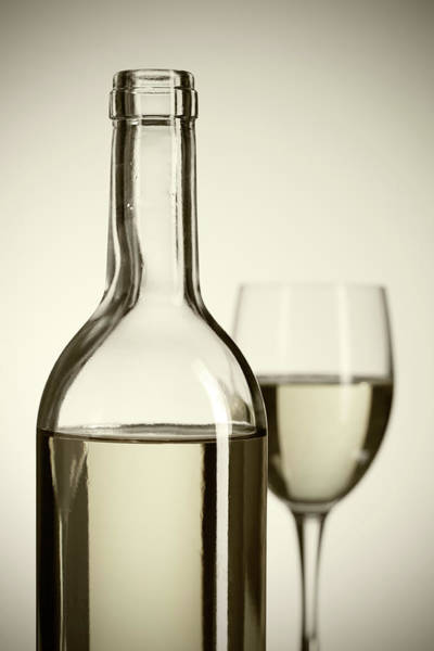 Alcohol Photograph - Wine Bottle And Cup by Tempura