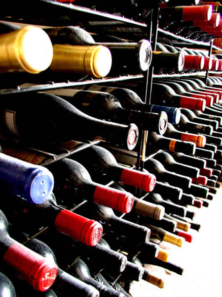 Insurance Photograph - Wine Bottles Perspective by Chichi