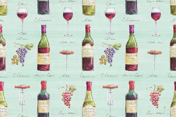 Burgundy Painting - Wine Country Step 01b by Daphne Brissonnet