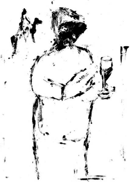 Digital Art - Wine Digitally Whitened Paper by Artist Dot