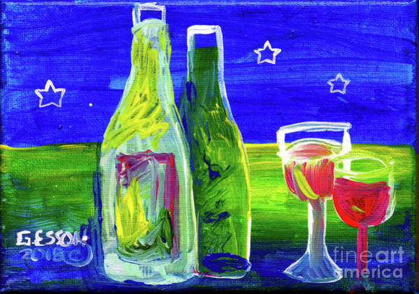 Wall Art - Painting - Wine For Two by Genevieve Esson