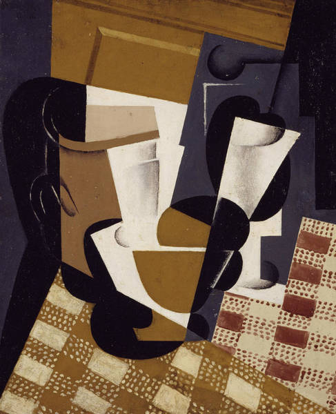 Wall Art - Painting - Wine Jug And Glass, 1916 by Juan Gris