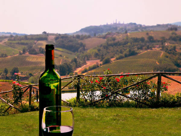 Photograph - Wine Tasting In Tuscany by Micki Findlay