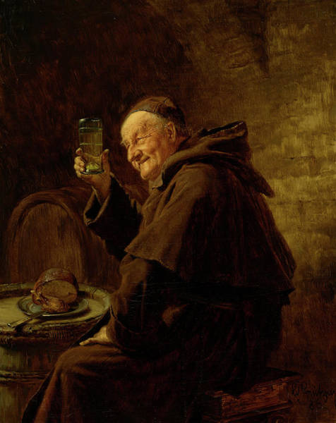 Smell Painting - Wine Testing, 1886 by Eduard Grutzner