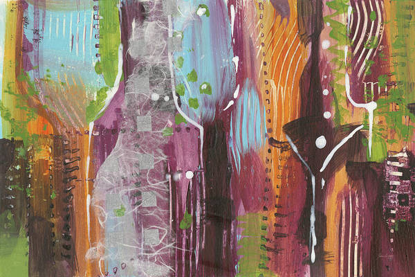 Wall Art - Painting - Wine Time One by Jan Griggs
