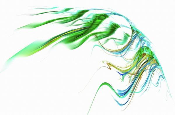 Digital Art - Wing Of Beauty Art Abstract Green by Don Northup