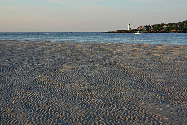 Photograph - Wingaersheek Beach Sand Patterns And Shadows Gloucester Ma Annisquam Lighthouse by Toby McGuire