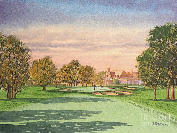 Wall Art - Painting - Winged Foot West Golf Course 9th Hole by Bill Holkham