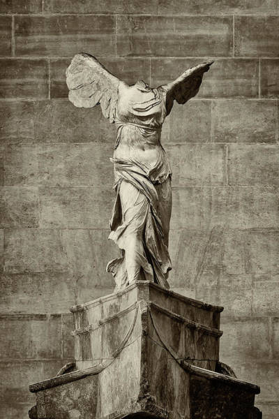 Wall Art - Photograph - Winged Victory Of Samothrace - #14 by Stephen Stookey