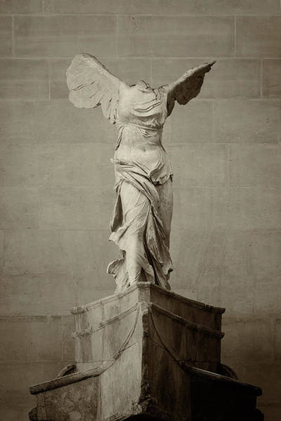 Wall Art - Photograph - Winged Victory Of Samothrace - #15 by Stephen Stookey