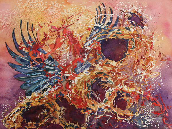 Painting - Wings Of Home Empty Nest IIi by Jenny Armitage