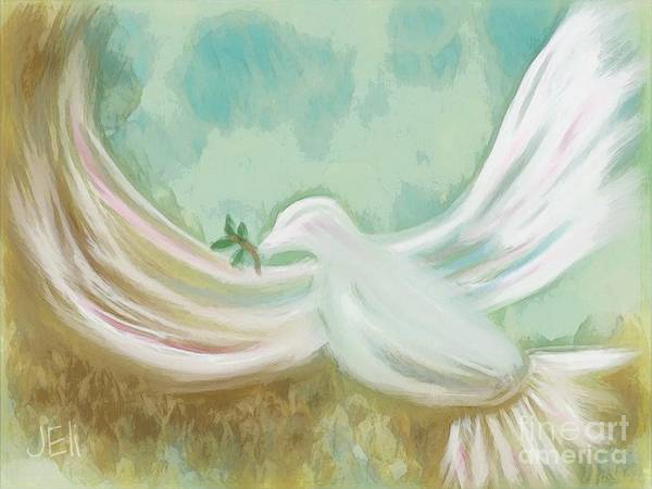 Mixed Media - Wings Of Peace by Jessica Eli
