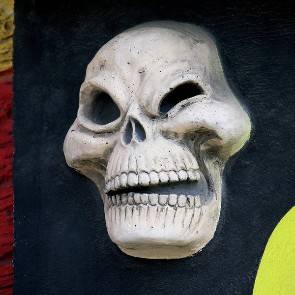 Life Or Death Photograph - Winking Skull by Art Block Collections