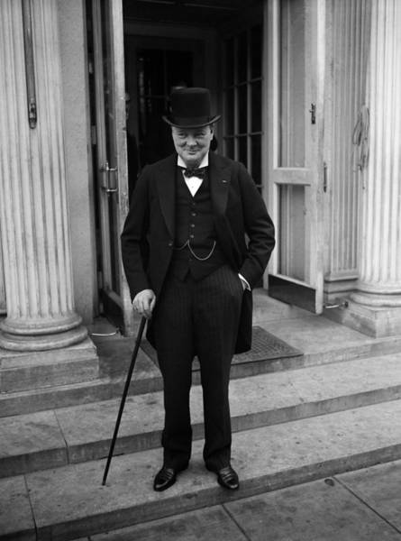 White House Photograph - Winston Churchill At White House - 1929  by War Is Hell Store