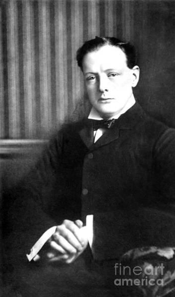 Wall Art - Photograph - Winston Churchill - Portrait by Unknown