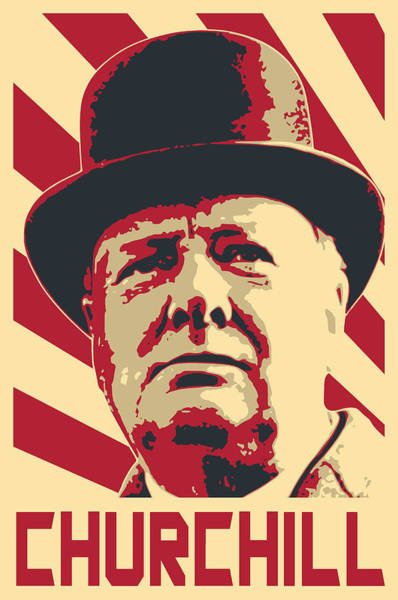 Wall Art - Digital Art - Winston Churchill Propaganda Pop Art by Filip Hellman