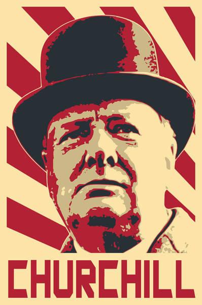 Propaganda Digital Art - Winston Churchill Propaganda Pop Art by Filip Hellman