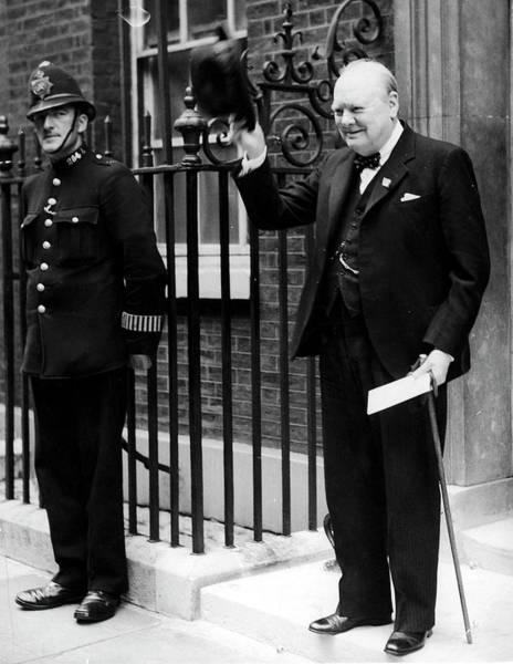 Wall Art - Photograph - Winston Churchill by Time Life Pictures