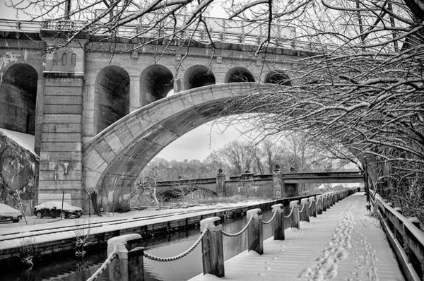Wall Art - Photograph - Winter Along The Manayunk Canal - Philadelphia In Black And Whit by Bill Cannon